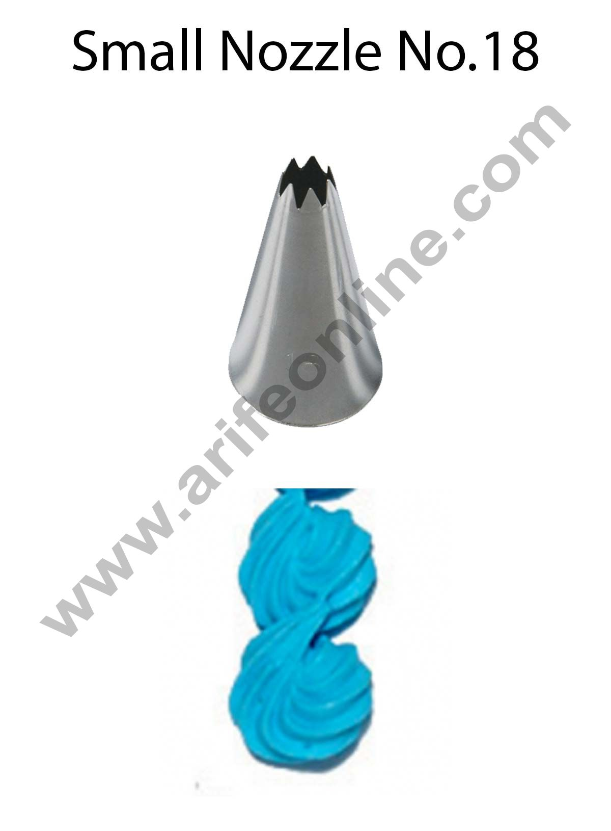 Cake Decor Small Nozzle - No. 18 Open Star Piping Nozzle