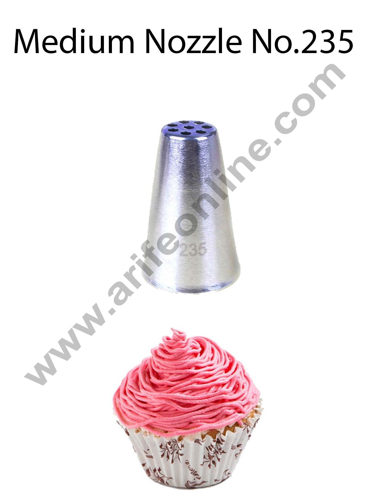 Cake Decor Medium Nozzle - No. 235 Small Plain Grass Piping Nozzle