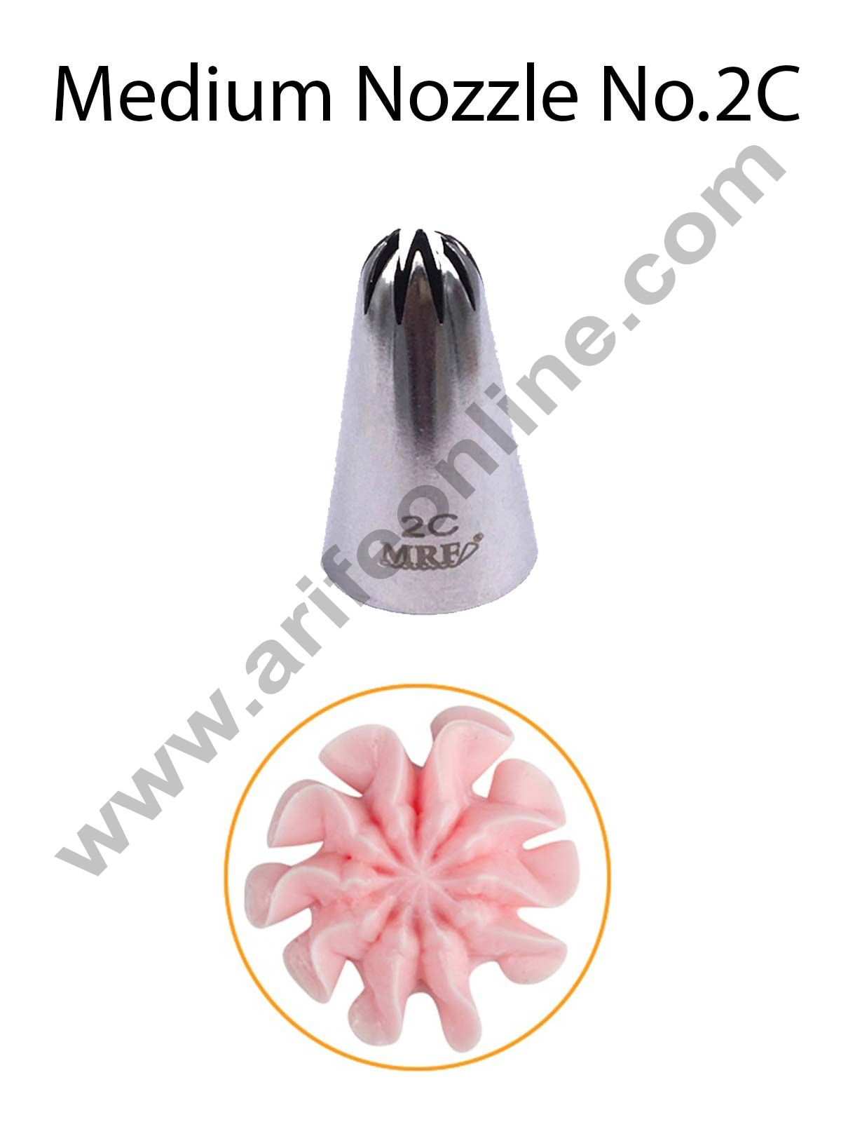 Cake Decor Medium Nozzle - No. 2D Closed Star Piping Nozzle