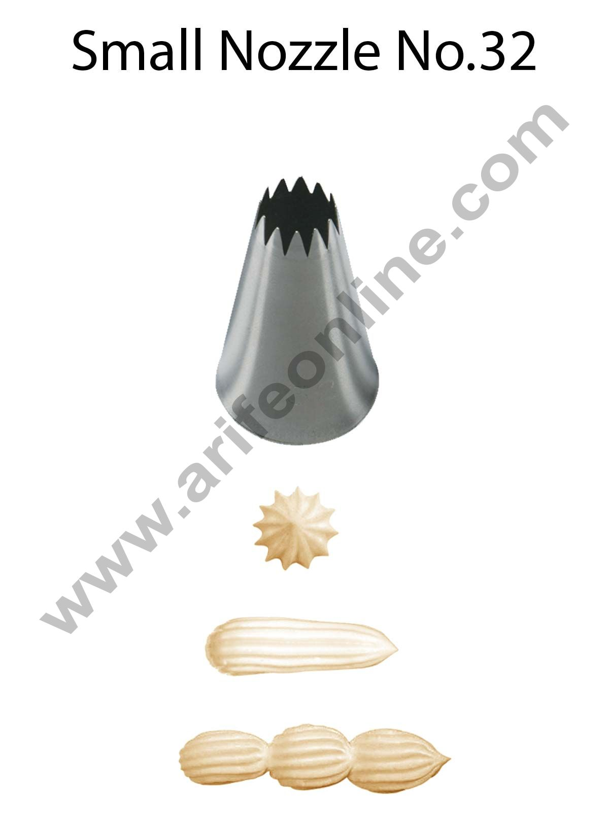 Cake Decor Small Nozzle - No. 32 Open Star Piping Nozzle