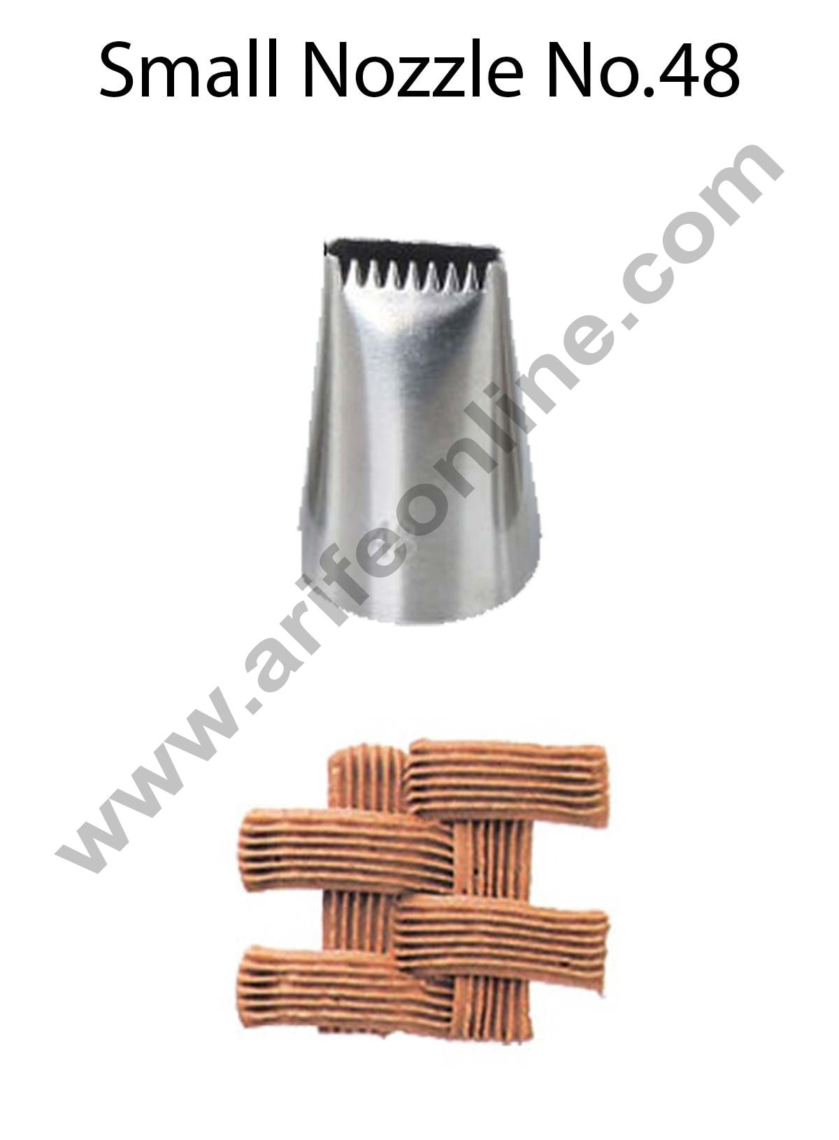 Cake Decor Small Nozzle - No. 48 Basketweave Piping Nozzle