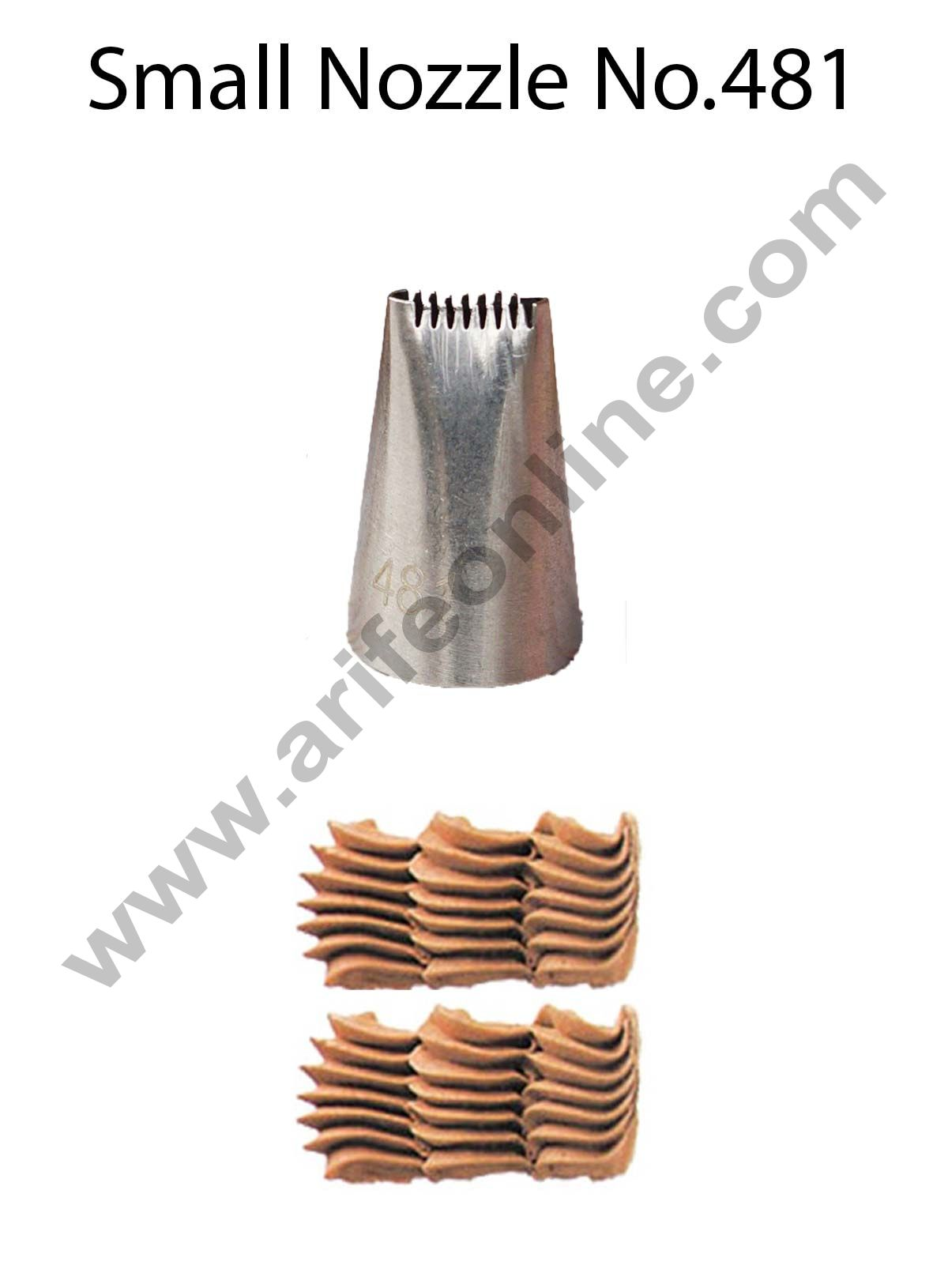 Cake Decor Small Nozzle - No. 481 Basketweave Piping Nozzle