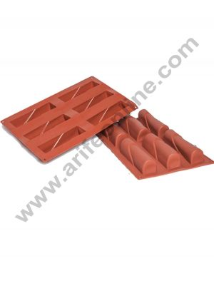 6 Cavity Silicon Yule log Shape Muffin Mould SBSM-199