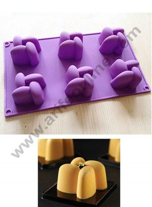 6 cavity silicon muffin mould SBSM-334