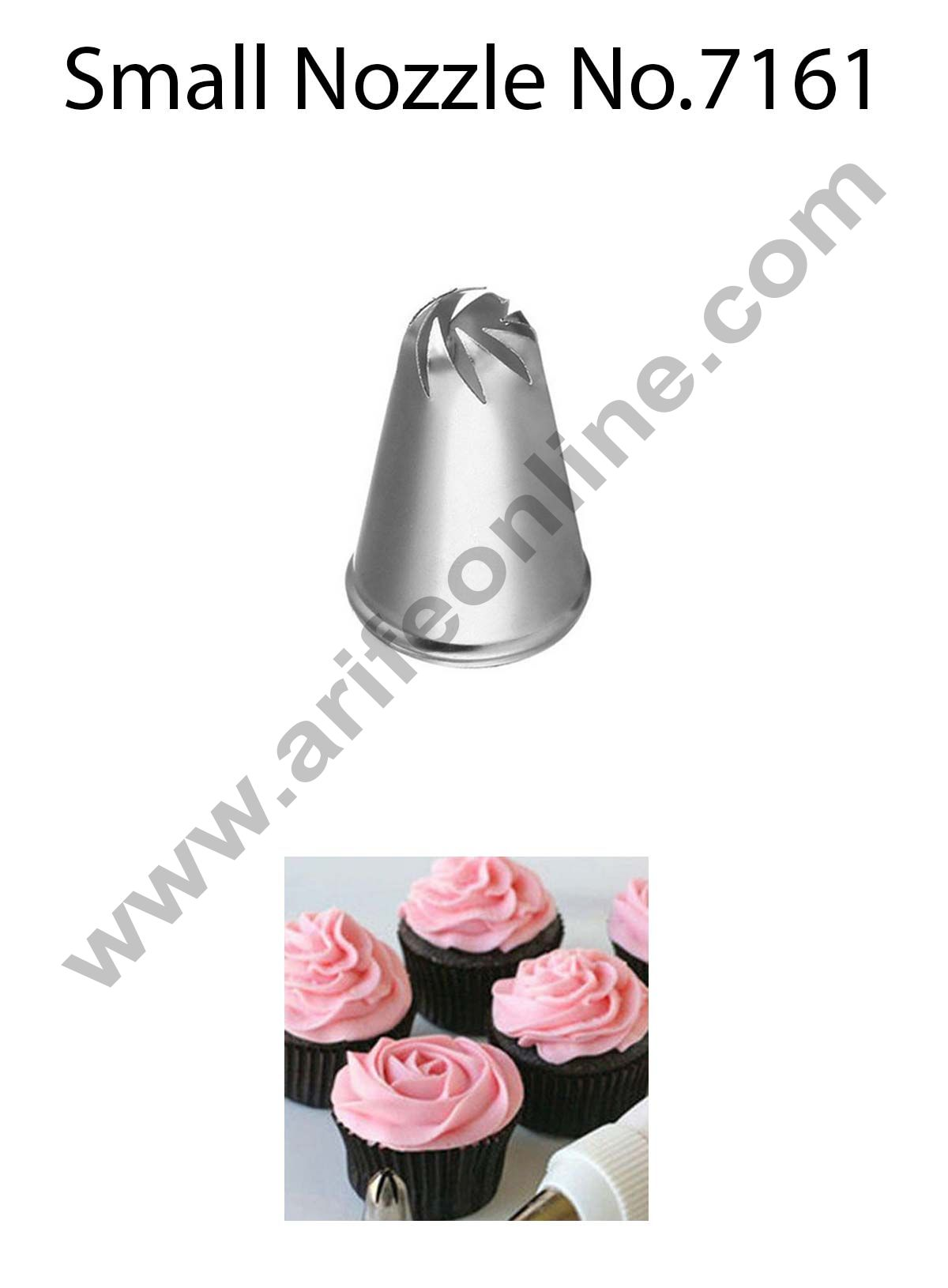 Cake Decor Small Nozzle - No. 7161 Drop Flower Piping Nozzle