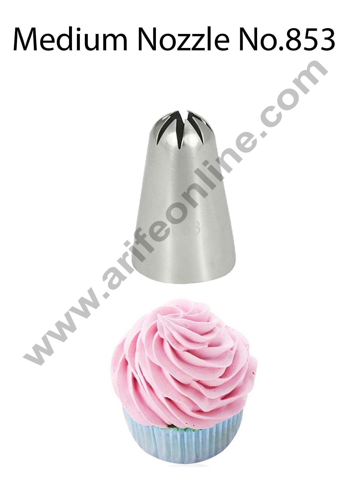 Cake Decor Medium Nozzle - No. 853 Closed Star Piping Nozzle