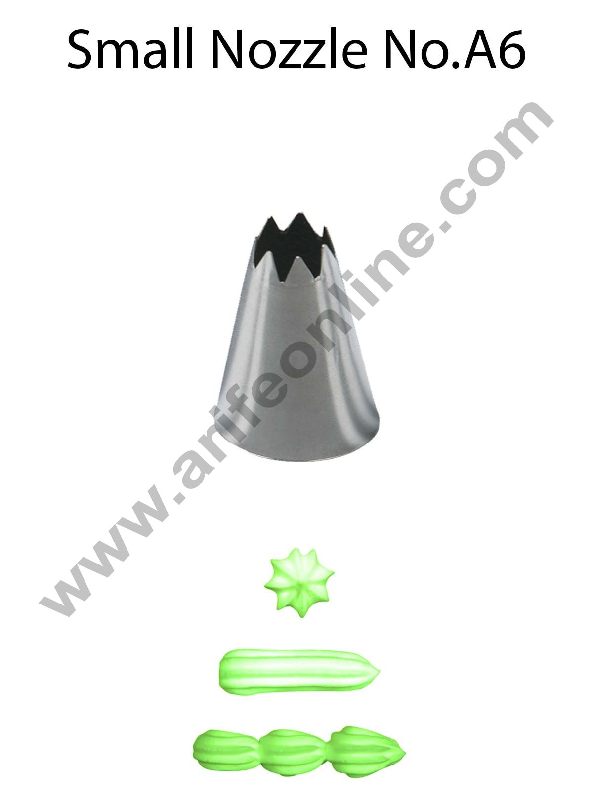 Cake Decor Small Nozzle - No. A6 Open Star Piping Nozzle