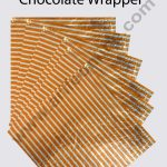 Stripes Print Cut Foil Wrapper