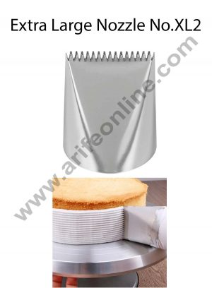 Cake Decor Extra Large Nozzle - No. XL2 Basketweave Piping Nozzle