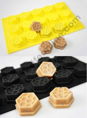 15 Cavity Honey Comb Silicon Mould