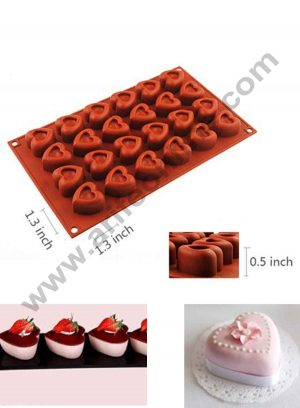 24 Cavity Heart Desing Silicon mould