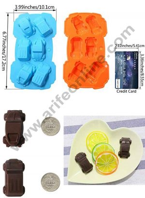 6 cavity Car Shape Silicon Chocolate mould