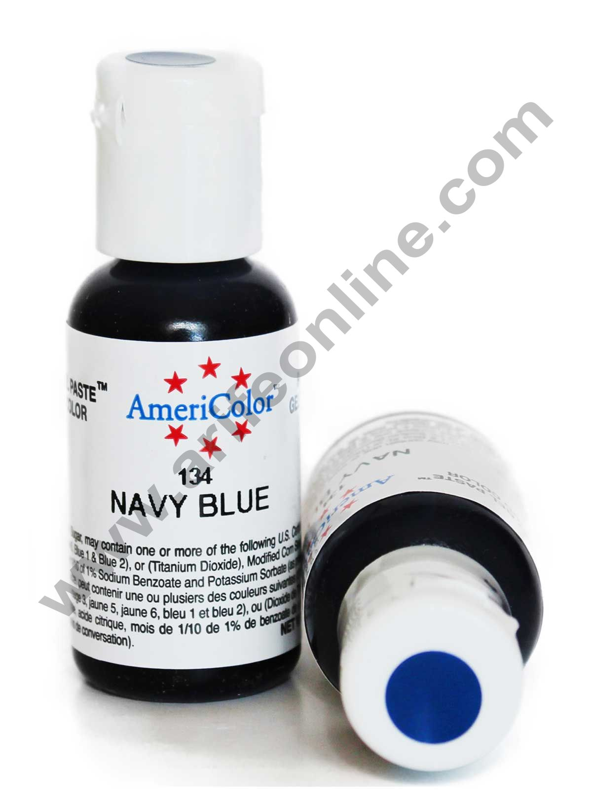 AmeriColor Navy Blue 0.75 oz Soft Gel Paste Food Color (21g)
